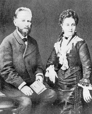 П. И. Чайковски с жена си А. И. Чайковска (Милюкова)
